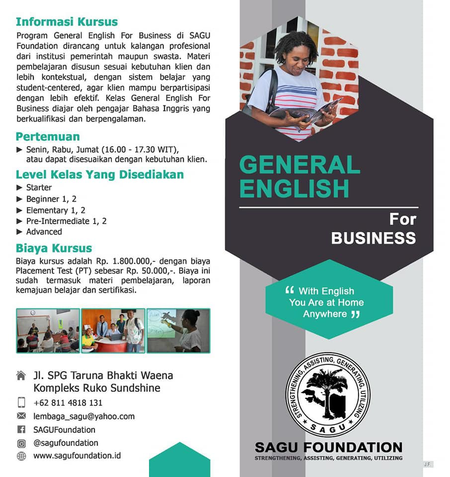 Brosur General English For Business di SAGU Foundation